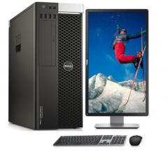 戴尔 Precision T7810 图形工作站 2*E5-2620v4/16GB/128GB SSD+1TB/M2000 4GB独立/2台P2416D 23.8宽屏2K液晶  WL.056