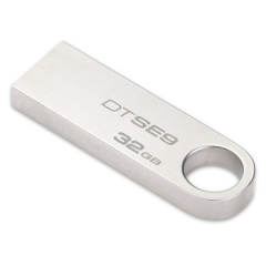 金士顿(Kingston)32GB  2.0   U盘 DTSE9H 金属 银色 精巧时尚 稳定可靠  PJ.007