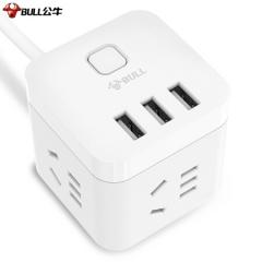 公牛(BULL) GN-U303U 魔方智能USB插座 插线板/插排/排插/接线板/拖线板1.5米 JC.752