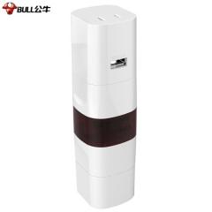 公牛(BULL) GN-L07U公牛环球旅行USB转换器/旅行转换器/转换插头/国外使用欧标美标德标英标适用  JC.758
