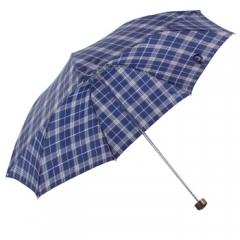 天堂伞 苏格兰风格格子三折钢伞晴雨伞 兰藏青 339S劳保伞 JC.760