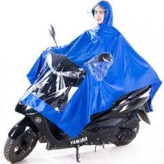 成人电动电瓶摩托车雨衣男女式单人雨披加大加厚 均码天蓝 JC.761