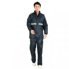 牛津布单层夜光型分体男女套装雨衣雨披 大帽檐 均码 FT811 藏青色 JC.763