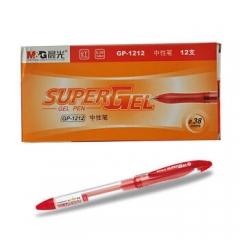 晨光 GP1212 中性笔 0.38mm 12支/盒 红色      XH.216