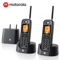 摩托罗拉 Motorola O202C 电话机 远距离数字无绳套装 橙色背光电话簿中英文显示菜单可扩展 固定无线座机   IT.349