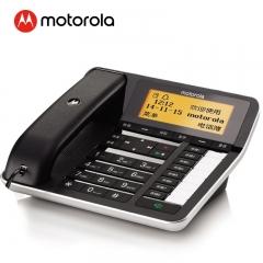 摩托罗拉(Motorola)电话机CT700C录音插卡电话全中文输入中文菜单免提大音量办公有绳固定座机(黑色)  IT.351