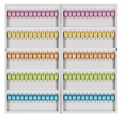 得力 钥匙箱 金属钥匙柜 钥匙箱壁挂式汽车钥匙管理箱子锁匙收纳盒  120位五排(9326)     BG.265