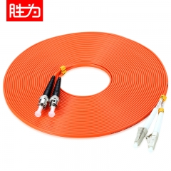 胜为(shengwei)FMC-606 电信级光纤跳线 优质进口插芯 LC-ST网线多模双芯 收发器尾纤 10米  WL.180