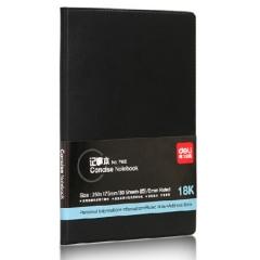 得力(deli)18K80张大号基础看商务办公皮面本 会议本记事本笔记本子 黑7900    BG.269