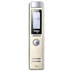 爱国者(aigo)录音笔 R6611 8G 专业微型 学习/会议采访取证录音 香槟金  IT.404