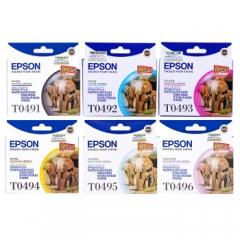 爱普生(EPSON) T0491墨盒R210/R230/310/RX510/650 一套装6色墨盒    HC.691