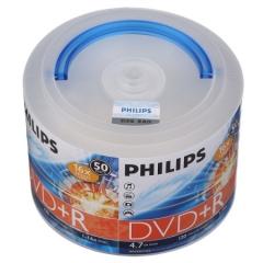 飞利浦(PHILIPS)DVD+R光盘/刻录盘 16速4.7G 手拎乖乖桶 桶装50片   PJ.214