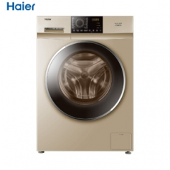 海尔/Haier G90918HBG  洗烘一体洗衣机大容量变频静音节能9kg全自动滚筒洗衣机 DQ.1245