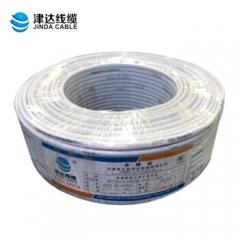 津达RVV2*2.5平方2芯铜芯软电线护套线空调延长线 百米 白色2.5平方 JC.748