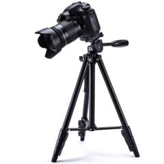 云腾(YUNTENG)VCT-1368RM 手机蓝牙遥控三脚架 微单数码相机摄像机自拍用 优质铝合金超轻三角架黑色 ZX.258