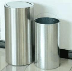 不锈钢圆形垃圾桶28cm*28cm*63cm (含内芯)QJ.185