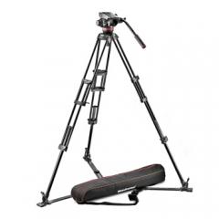 曼富图Manfrotto MVH502A,546GB-1 地置双管液压摄像三角架云台套装 ZX.262