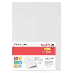齐心(Comix) E310-1 A4透明二页文件套 L型单片文件夹 10个装     XH.555