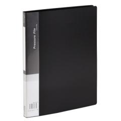 齐心(Comix) 单强力夹+插页 A4文件夹 资料夹 黑色 AB600A   XH.559