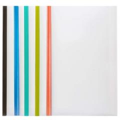 齐心(Comix) 5个装 彩色抽杆夹/A4报告夹/文件夹/拉杆夹 A856   XH.564