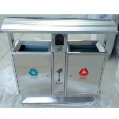 环卫分类不锈钢垃圾桶1000mm*380mm*1000mm(±10mm)    QJ.190