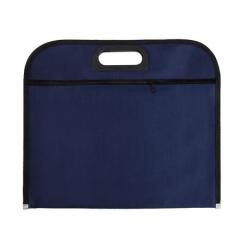 齐心(Comix) A4 收纳袋 会议专用织布袋 双袋 蓝 A1669   XH.569