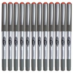 齐心(COMIX)RP602   0.5mm红色子弹头直液式走珠签字笔学生考试中性笔 12支/盒    XH.573