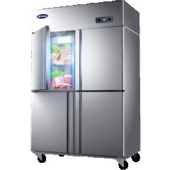 银都 BBL0542 836升商用四门厨房冰箱 立式冷藏冷冻冰柜 DQ. 1277