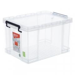 禧天龙Citylong 6070塑料收纳箱整理箱中号透明抗压加厚玩具储物箱31L    QJ.191