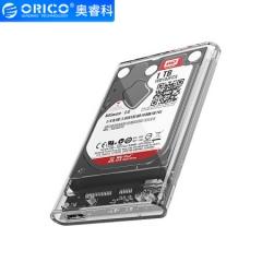奥睿科(ORICO)移动硬盘盒2.5英寸USB3.0 SATA串口笔记本硬盘外置壳固态机械ssd硬盘盒子 全透明2139U3   PJ.254