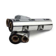 斑马(ZEBRA)原装全树脂碳带 热转印碳带 标签打印机碳带 色带 110mm*70m 小卷芯   HC.826