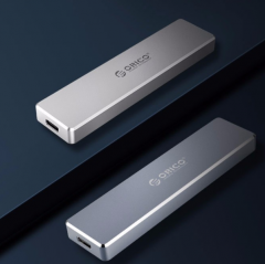 奥睿科(ORICO)外置NVME M.2转Type-c移动硬盘盒USB3.1固态SSD全铝外置盒 10Gbps-掀盖式 PVM2-C3 银色    PJ.262