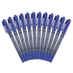 晨光MG-2130双头记号笔  12支/盒   蓝色    XH.195