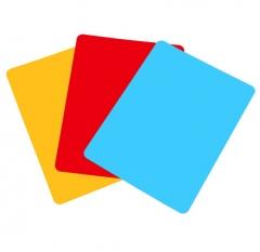 得力 9353 复写板A4文件板夹 5个/组颜色随机       XH.240