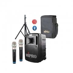 咪宝Mipro MA-808无线扩音器ma-808蓝牙 1主机+2手持话筒+1支架 +防尘罩  IT.509