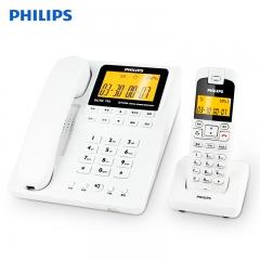 飞利浦(PHILIPS)DCTG792 无绳电话机 来电显示/子母机/商务办公 (白色/黑色可供选择)一拖一   IT.518