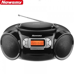 纽曼CD-H180 学生光盘复读机 英语教学用转录收录音机教学机 mp3播放器手提音响便携音箱 黑色DQ.1282