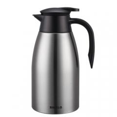 施美乐(SIMELO) 印象京都 迎宾保温壶 双层304不锈钢保温瓶热水瓶暖壶2.0L 本色 CF.057