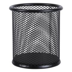 晨光(M&G)黑色圆形金属网格笔筒简约桌面收纳盒 单个装ABT98404   BG.593