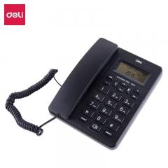 得力(deli)33490商务电话机 来电显示固定电话 大字按键有绳电话(黑色)  IT.527