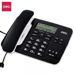 得力(deli)794 免电池来电显示座机 双接口办公电话机 大按键固定电话 带计算器功能(黑色/白色可供选择) IT.528