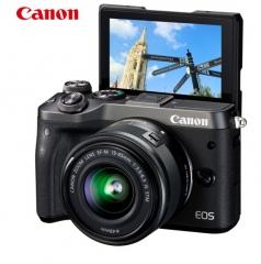 佳能(Canon)微单EOS M6(15-45镜头套机)微型可换镜数码相机黑色  ZX.023