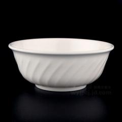 仿瓷碗密胺餐具碗汤碗饭碗粥碗塑料斜纹碗 支持印字定制 100只/箱(6英寸15*6.5cm)  CF.059
