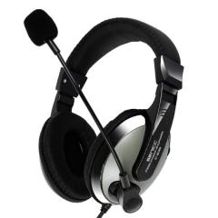 硕美科(SENICC)ST-2688 头戴式电脑耳机 带话筒耳麦 双插头 灰色PJ.298