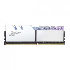 芝奇(G.SKILL)8G DDR4 3200频率 台式机内存条 皇家戟RGB灯条/(花耀银)    PJ.302