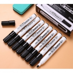 爱好(AIHAO)74500可擦易擦水洗白板笔 黑色 XH.635