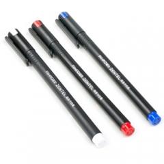 爱好(AIHAO)8620 中性笔0.5mm水笔签字黑红色全针管碳素笔  笔芯黑色  XH.637