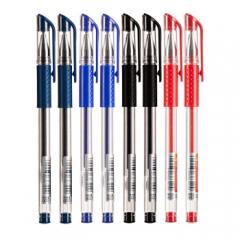 爱好832中性笔0.5mm签字笔碳素笔   红色   XH.642