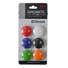 得力(deli)7825磁钉φ30mm(混)(6个/卡)   XH.645