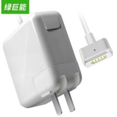 绿巨能(llano)适用苹果电脑充电器60W MacBook Pro A1502 A1425 A1435笔记本电源适配器线16.5V3.65A    PJ.304